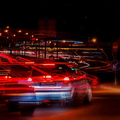 Drive (Lebemitgott) Tags: kreative fotografie photoshop fotograf 500px night red light time streak headlight photography nachtaufnahme nightscape new yorker trail city