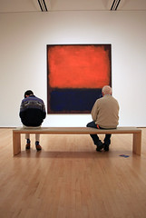 Sitting with Mark Rothko (JB by the Sea) Tags: sanfrancisco california december2017 urban financialdistrict sanfranciscomuseumofmodernart sfmoma painting markrothko