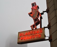 planter's peanuts (brown_theo) Tags: fog nut shop columbus ohio neon peanuts planters red