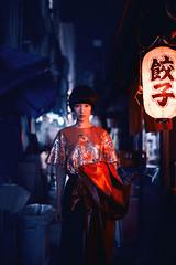 Ao in Oimachi: for Neon Rose fashion, London (Alfie | Japanorama) Tags: model japan tokyoatnight tokyo oimachi kerlee 35mm f12 night red lanterns fashionphotographyjapan fashionphotographytokyo fashionphotographerinjapan nikon d800e