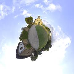 Iglesia de San Julian de Los Prados Oviedo (el infógrafo) Tags: little planet asturias oviedo santullano