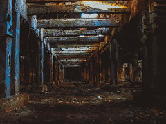 basement (YellowTipTruck) Tags: noperson abandoned architecture travel old building broken tunnel industry outdoors basement urban city burg kyiv