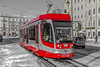 The red Bus (Tony_Brasier) Tags: raw russia road cars statues saintpetersburg nikond7200 north bus track trams buildings icecold outdoors lovely location lights 1750mm sigma sky snow snowing shops stones