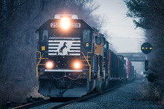 My Son's First 70 (marko138) Tags: 11z buffaloline emd mp299 ns2519 norfolksouthern prrpositionlights prrsignals pennsylvania sd70 fog freighttrain intermediatesignals locomotive mainline manifest railfan railroad railroadphotography spartancab standardcab train winter