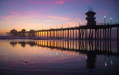 Pier Lights At Low Tide (FilmAndPixels) Tags: ifttt instagram lights lowtide hb huntingtonbeach