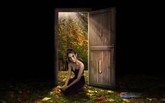 Carlos Atelier2 - A porta (Carlos Atelier2) Tags: carlos atelier2 porta floresta verde luz mulher fada noite dia folhas