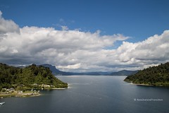 spectacular view over the Home Bay (Te Whanganuioparua) and Panekire Bluff on a fine day (hueymilunz) Tags: landscape newzealandtransition newzealand nz lake hawkesbay summer mountain sky blue outdoor