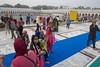 Blue carpet (Tim Brown's Pictures) Tags: india newdelhi sikhtemple gurudwarabanglasahib sikh religion temple food kitchen langar guruwara community pond holy