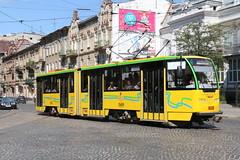 2017-06-18, Lviv, Pl. Ivana Franka (Fototak) Tags: tram strassenbahn tatra kt4 lviv ukraine ligne8 1030