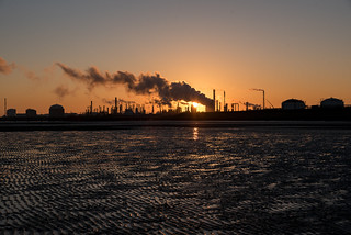 Industry at dawn