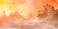 Twirl peaks (Philippe Meisburger Photo) Tags: 3d blender art compositing virtual virtuel clouds nuages alien extraterrestre dream rêve sciencefiction computer generated ordinateur création creation philippe meisburger 2018