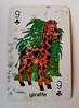 Nine of Wands (RETTOCAMME) Tags: nineofwands nineofclubs foundobject playingcard foundcard giraffe spiritanimal