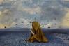 Music // Música (Kathy Chareun) Tags: music musica art arte fineart fineartphotography yellow amarillo blue blau azul sky cielo cesped grass day dia clouds nubes paint pintura fly volar tesoro treasure surreal surrealism surrealismo surrealistic surrealista arm brazo magic magia thelightbulbproject thelightbulbprojectmusic woman mujer femme autorretrato autoretrato selfportrait hood capa