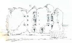 La Gimonière, Le Longeron, Maine-et-Loire, France (Linda Vanysacker - Van den Mooter) Tags: visiblytalented vanysacker vandenmooter tekening sketch schets potlood pencil lindavanysackervandenmooter lindavandenmooter drawing dessin croquis crayon art château castle kasteel frankrijk france 2017 lagimonière lelongeron maineetloire