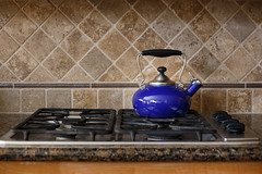 Time for Tea (Angela Weirauch Photography) Tags: blue canon canon6d 6d 50mm prime pearland texas kitchen stove tea kettle