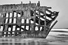 The test of time (James_D_Images) Tags: peteriredale shipwreck iron frame rusted exposed waves oregon coast pacific ocean corrosion blackandwhite monochrome