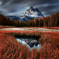 Dolomites Italie (EtienneR68) Tags: landscape colors eau hills montagne mountain nature paysage dolomites dolomiti reflection reflet lac trees tree water marque pays italie italy type longexposure