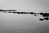 Winter Fog (janetbland) Tags: longislandsound stamford atmospheric beach boat cold cove february fog shore water winter rock stone island gray blackandwhite monochrome
