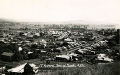 View of Kyogle, N.S.W. - circa 1940s (Aussie~mobs) Tags: newsouthwales vintage australia kyogle homes houses streets town township residences groomstreet