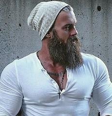 AXEL (NY10014) Tags: rugged tattoo tats man manly hunk stud hard nips gym workout steel pecs beef beefy axel beard