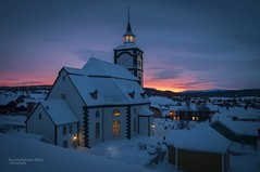Røros Norway (r-hov2) Tags: røros norway church abigfave sunset tower winter