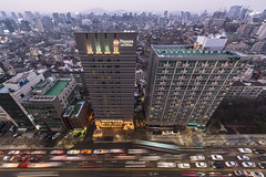 roofie (matteroffactSH) Tags: seoul korea south southkorea skyline cityscape urban dense density skyscrapers architecture dusk lights night traffic vista nikon d800 d800e matteroffact andrewrochfort