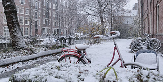 Frozen saddle in Amsterdam