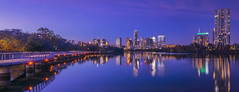 Austin, Texas at Night (Mr. Ansonii) Tags: texas austin atx keepaustinweird coloradoriver ladybirdlake lake river blue sky skyscrapers skyline path trail december reflection nikon d3300 sigma 1020mm sigma1020mm テキサス州 オースティン 湖 川 高層ビル 12月 ニコンカメラ