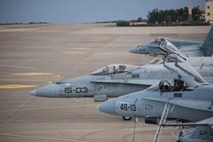Ejercicio DACEX-18 (Ejército del Aire Ministerio de Defensa España) Tags: f18 fighter mcdonnelldouglasf18 hornet baseaéreadegando canarias gando grancanaria ejércitodelaire spanishairforce aviation aviación