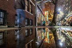 Top Pot Donuts (Jeremy J Saunders) Tags: neon toppotdonuts puddle night reflection usa seattle jjs jeremyjsaunders d850 nikon