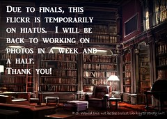 hiatus (Gaea Oakleaf-Danick) Tags: school hiatus study finals library education secondlife sl coffee java morecoffee