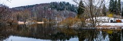 At the Saxon Saale - Thuringia, Germany (dejott1708) Tags: saxon saale thuringia germany landscape panorama river reflections trees