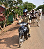 Police motorcycle escort (D70) Tags: police motorcycle escort honda ncx nikon d750 28300mm f3556 ƒ71 400mm 1200 100 odong kandal cambodia kampong tralach procession carts 2 people tourists from mv mekong adventurer per cart rough bumpy uncomfortable experience