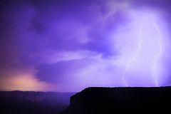 Stormy Mountains Nights || GOVETTS LEAP || BLUE MOUNTAINS (rhyspope) Tags: australia aussie new south wales nsw rhys pope rhyspope canon 5d mkii storm thunderstorm thunder lightning night dark govetts leap blue mountains blackheath grose valley clouds weather extreme travel tourism lookout view vista amazing silhouette