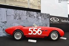 Ferrari 166 MM Spider 1953 (Monde-Auto Passion Photos) Tags: voiture vehicule auto automobile ferrari 166 mm spider cabriolet convertible roadster sportive rare rareté rouge red ancienne classique mille miglia millemiglia vauban vente enchère sothebys france paris