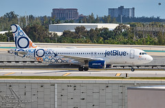"""JetBlue Airways   """"Blues Brothers""""   10th Anniversary Livery   Airbus   A320-232   N569JB   S/N:2075 (Winglet Photography) Tags: plane airplane aircraft airline airlines airliner jet jetliner flight flying aviation travel transport transportation spotting planespotting georgewidener georgerwidener stockphoto wingletphotography canon 7d dslr fortlauderdale ftlauderdale fll kfll florida fl south jetblueairways bluesbrothers 10thanniversary speciallivery airbus a320232 n569jb 2075 a320 logojet"""