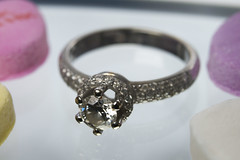 Macro Diamond Ring Photo (FotodioxPro) Tags: macrophotography nikond800e fotodiox fotodioxpro productphotography macroring engagementring diamondring candyhearts valentinesday macroextensiontube macrotube diamond