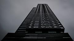 Dark Giant II (s.W.s.) Tags: building architecture architectural city urban sky montreal skyscraper black dark lines windows nd canada nikon d3300 lightroom