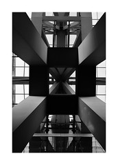Airport structure (patrice bourdin) Tags: suvarnabhumi airport structure bw blackandwhite bangkok architecture abstract thailand geometry symetrie simple minimal