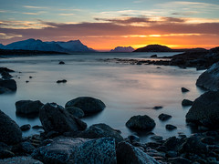 February sunset. (frodekoppang) Tags: norway northernnorway olympus sunset february ocean longexposure leefilter