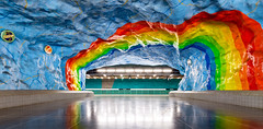 _MG_3033 - The rainbow underneath (AlexDROP) Tags: 2017 stockholm sweden underground metro art travel architecture color city wideangle urban scape canon6d ef16354lis best iconic famous mustsee picturesque postcard europe interior banner