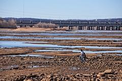 More Ebb than Flow (brev99) Tags: d7100 tamron70300vc arkansasriver people landscape tulsa riverbed bridge ononesoftware on1photoraw2018