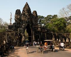 Angkor   |   Angkor Thom South Gate (JB_1984) Tags: southgate gate tree temple ruin decay carving stone stonework masonry khmer tuktuk angkorthom templesofangkor siemreap krongsiemreap cambodia cambodge kampuchea nikon d500 nikond500