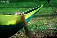 Hammock Pony (Hi-Fi Fotos) Tags: girl hair ponytail hammock abstract green sun shadow rest relax sleep nikkor 105mm 28 micro nikon d7200 dx hififotos hallewell