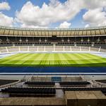 Olympiastadion in Berlin; Blick von der Ehrentribüne thumbnail