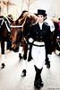 Mr. Cubelles and his fellow horsewoman (j.borras) Tags: nikon horse 50mm parade barcelona d700 jockey santantoni trestombs horsewoman