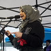 Noor Fadel speaking at the Women's March 2018 Vancouver, Canada
