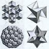 collage2017131 (regolo54) Tags: polyhedra solid geometry symmetry handmade mathart regolo54 escher hexagon isometric