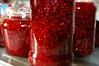 Raspberry Jam (remcclean) Tags: raspberry jam home made homemade jar glass sun indoors kitchen batch delicious scrumptious red bokeh