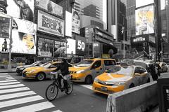 Yellow Dash, Times Square (Henry Hemming) Tags: newyorkcity manhattan nyc streetphotography metropolis city pace hustle busy 20180124newyorkcity